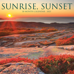"""Willow Creek Press Scenic Monthly Wall Calendar, 12"""" x 12"""", FSC® Certified, Sunrise/Sunset, January to December 2021, 13458"""