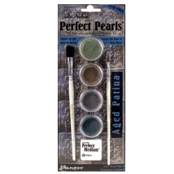 Ranger Perfect Pearls Complete Embellishing Pigment Kit, Aged Patina