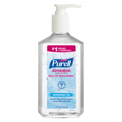 PURELL® Advanced Hand Sanitizer Refreshing Gel for Workplaces, Clean scent, 12 fl oz pump bottle