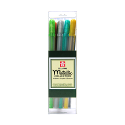 Sakura Gelly Roll Metallic Pens, Cube Collection, Assorted Colors, Set Of 16 Pens