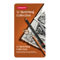 Derwent Sketching Pencil Collection, Set Of 12