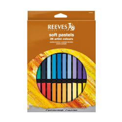 Reeves Soft Pastel Set, Assorted Colors, Set Of 36 Pastels