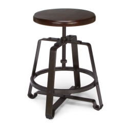 OFM Endure Series Small Stool, Walnut/Dark Vein
