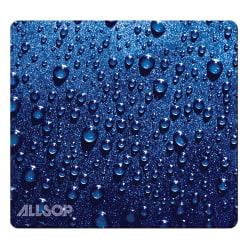 "Allsop® Naturesmart Mouse Pad, 8.5"" x 8"", Blue Raindrop"