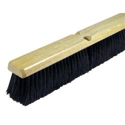 "Wilen Black Tampico Push Broom, 24"""