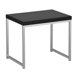 Ave Six Wall Street Table, End, Rectangular, Black/Chrome