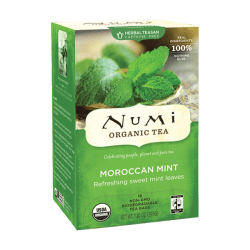 Numi® Morroccan Mint Herbal Tea, Box Of 18
