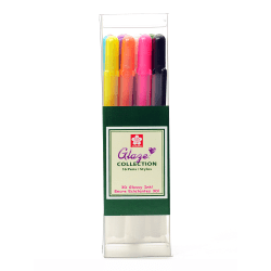 Sakura Gelly Roll Glaze Pens, Cube Collection, Assorted Colors, Set Of 16