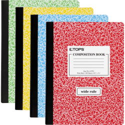 """TOPS® Composition Book, 7 1/2"""" x 9 3/4"""", 100 Sheets"""