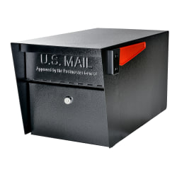 """Mail Boss Mail Manager Latitude Street Safe, 11-1/4""""H x 10-3/4""""W x 21""""D, Black"""