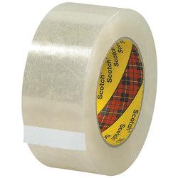 "Scotch® 313 Carton Sealing Tape, 3"" Core, 2"" x 55 Yd., Clear, Case Of 6"