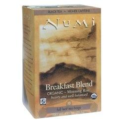 Numi® Organic Breakfast Blend Black Tea, Box Of 18
