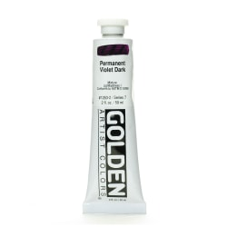 Golden Heavy Body Acrylic Paint, 2 Oz, Permanent Violet Dark