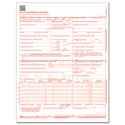 "ComplyRight™ CMS-1500 Health Insurance Claim Form (02/12), Laser-Cut Sheet, 8 1/2"" x 11"", White, Case of 2,500"