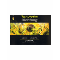 """Bienfang Young Artists Sketchbooks, 12"""" x 18"""", 50 Sheets Per Pad, Pack Of 3 Pads"""