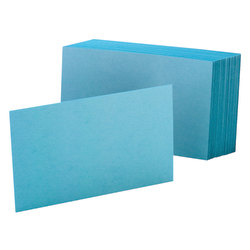"Oxford® Color Index Cards, Unruled, 4"" x 6"", Blue, Pack Of 100"