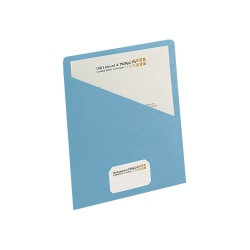 """Smead® Slash File Jackets Convenience Pack, 9 1/2"""" x 11 3/4"""", Blue, Pack Of 25"""