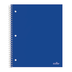 "Office Depot® Brand Stellar Poly Notebook, 8 1/2"" x 11"", 1 Subject, College Ruled, 200 Pages (100 Sheets), Blue"