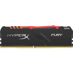 HyperX FURY RGB - DDR4 - module - 8 GB - DIMM 288-pin - 3733 MHz / PC4-29800 - CL19 - 1.35 V - unbuffered - non-ECC - black