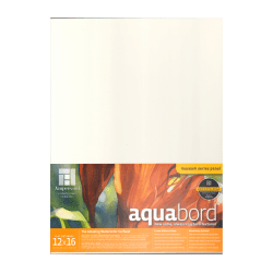 "Ampersand Aquabord, 12"" x 16"", Pack Of 2"