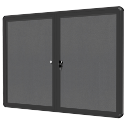 """MasterVision® Enclosed Fabric Bulletin Board With Aluminum Frame, 36"""" x 48"""", Grey/Graphite"""