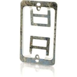 C2G Single Gang Wall Plate Mounting Bracket - Silver