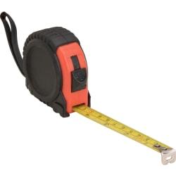 Genuine Joe Tape Measure - Imperial Measuring System - 1 Each - Red, Black