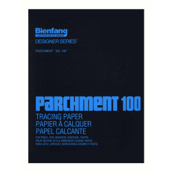 """Bienfang Parchment 100 Tracing Paper, 14"""" x 17"""", Pad Of 100 Sheets"""