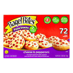 Ore Ida Cheese & Pepperoni Bagel Bites, 56-Oz, Box of 72 Bagel Bites
