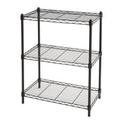"Realspace® Wire Shelving, 3-Shelves, 30""H x 23""W x 13""D, Black"