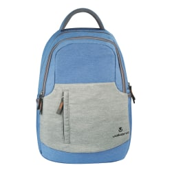 "Volkano Breeze Backpack With 15.6"" Laptop Compartment, Blue/Gray"