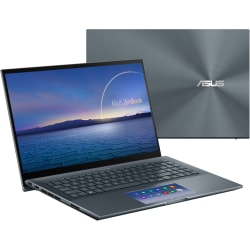 """Asus ZenBook Pro 15 UX535 UX535LI-XH77T 15.6"""" Notebook - Full HD - 1920 x 1080 - Intel Core i7 10th Gen i7-10750H 2.60 GHz - 16 GB RAM - 1 TB SSD - Pine Gray - Windows 10 Pro - NVIDIA GeForce GTX 1650 Ti with 4 GB - 15.90 Hour Battery"""