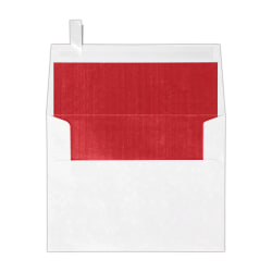"""LUX Invitation Envelopes With Peel & Press Closure, A2, 4 3/8"""" x 5 3/4"""", Red/White, Pack Of 500"""
