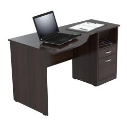 Inval Contemporary Curved Top Desk, Espresso-Wengue