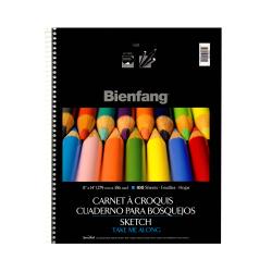 "Bienfang Take Me Along Sketch Pads, 11"" x 14"", 100 Sheets Per Pad, Pack Of 2 Pads"