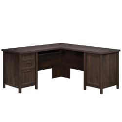 Sauder® Costa L-Shaped Desk, Coffee Oak