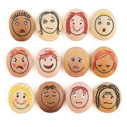 Yellow Door Emotion Stones, Brown, Pack Of 12 Stones