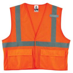 Ergodyne GloWear® Safety Vest, Mesh 8220HL, Type R Class 2, 4X/5X, Orange