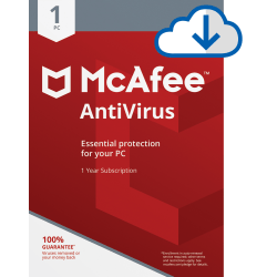 McAfee® AntiVirus, For 1 PC, 1 Year Subscription, Download