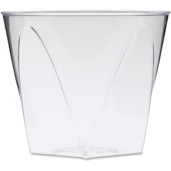 Milan WNA Comet Crystal Square Tumblers - 9 fl oz - Square-to-Round - 16 / Pack - Clear - Polystyrene - Juice, Soda, Wine
