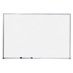 "Quartet® Standard Non-Magnetic Melamine Dry-Erase Whiteboard, 24"" x 36"", Aluminum Frame With Silver Finish"