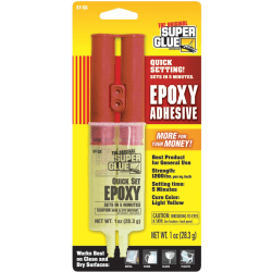 Super Glue Quick-Set Epoxy Syringe - Fiberglass