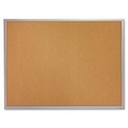 "Quartet® Economy Corkboard, 36"" x 48"", Natural Cork Board, Aluminum Frame"