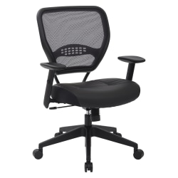 Office Star™ Space Seating Bonded Leather Mid-Back Chair, Black