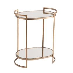 """Southern Enterprises Gardner Bar Table, 32""""H x 26""""W x 18""""D, Gold"""