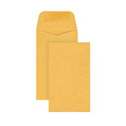 Office Depot® Brand Coin Envelopes, #3, Gummed Seal, Manila, Box Of 500