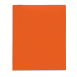 Office Depot® Brand 2-Pocket Poly Folder with Prongs, Letter Size, Orange