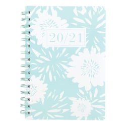 "See Jane Work® Floral Academic Weekly/Monthly Planner, 5-1/2"" x 8-1/2"", Blue, July 2020 to June 2021, SJ101-200A"