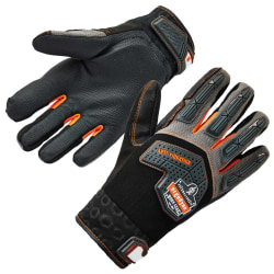 Ergodyne ProFlex 9015F(x) Certified Anti-Vibration Gloves With DIR Protection, Large, Black