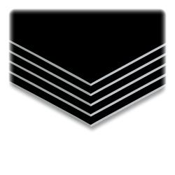 "Elmer's® Sturdy-Board Foam Boards, 20"" x 30"", Black/White, Carton Of 10"